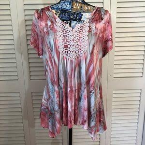 Live & Let Live Mori Girl Tie Dye Blouse Shirt PL
